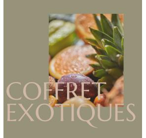 Coffret Exotiques - la Petite Cueillette - Format 110g