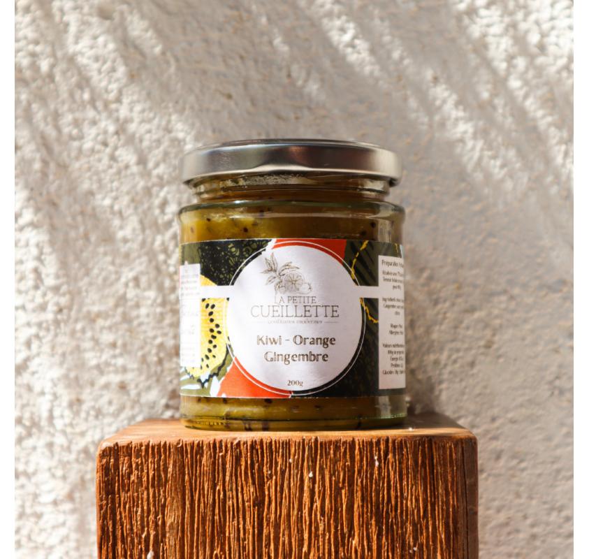 Confiture Kiwi Vert - Orange & Gingembre La Petite Cueillette