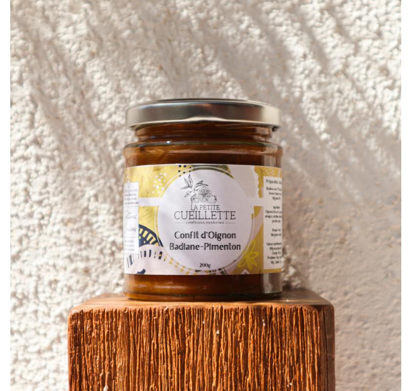 Confit Oignon - Badiane & Pimenton la Petite Cueillette