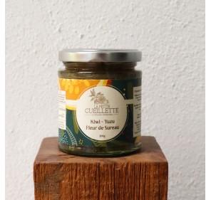 Confiture Kiwi Yuzu et Fleur de Sureau - La Petite Cueillette