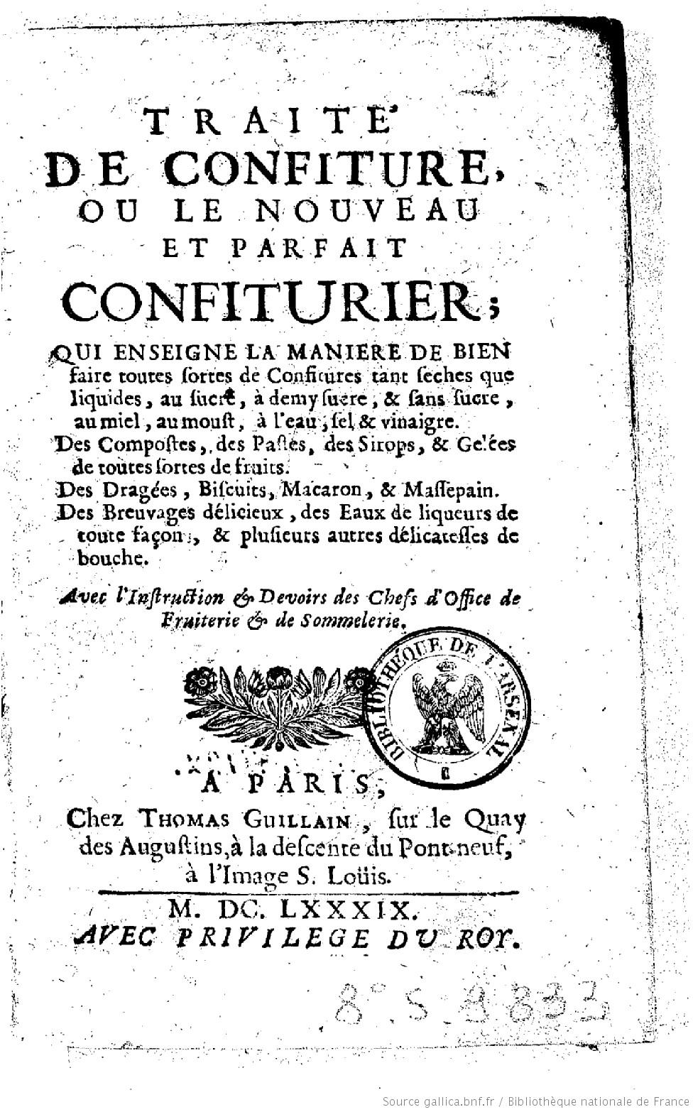 Nostradamus -Le Traité des fardements et confitures